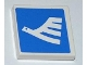 Part No: 3068bpb0459L  Name: Tile 2 x 2 with Groove with White Airline Bird Facing Left Pattern  (Sticker) - Set 3182
