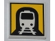 Part No: 3068bpb0465  Name: Tile 2 x 2 with Groove with Train in Tunnel Pattern