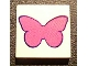 Part No: 3068bpb0481  Name: Tile 2 x 2 with Groove with Dark Pink Butterfly Pattern