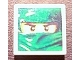 Part No: 3068bpb0482  Name: Tile 2 x 2 with Groove with Ninjago Mask Green Pattern