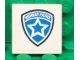 Part No: 3068bpb0487  Name: Tile 2 x 2 with Groove with Highway Patrol Logo White Star Pattern (Sticker) - Set 8681