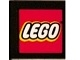 Part No: 3068bpb0560  Name: Tile 2 x 2 with Groove with LEGO Logo on Black Background Pattern