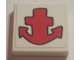 Part No: 3068bpb0694  Name: Tile 2 x 2 with Groove with Red Anchor Pattern (Sticker) - Set 3832