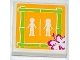 Part No: 3068bpb0746  Name: Tile 2 x 2 with Groove with Flower and Male and Female Friends Minifigures Silhouettes (Unisex Restroom) Pattern (Sticker) - Set 41008