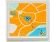Part No: 3068bpb0750  Name: Tile 2 x 2 with Groove with Map Heartlake City Pattern (Sticker) - Set 3063