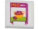 Part No: 3068bpb0833  Name: Tile 2 x 2 with Groove with 'HLC' and Cherries Pattern (Sticker) - Set 41035