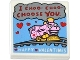 Part No: 3068bpb0841  Name: Tile 2 x 2 with Groove with Dark Red 'I CHOO- CHOO- CHOOSE YOU.', White 'HAPPY VALENTINES', Red Hearts and Bright Pink and Yellow Train Pattern