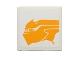 Part No: 3068bpb0860L  Name: Tile 2 x 2 with Groove with Bright Light Orange Sando Aqua Monster Pattern Model Left Side (Sticker) - Set 75048
