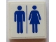 Part No: 3068bpb0909  Name: Tile 2 x 2 with Groove with Blue Man and Woman Silhouettes (Unisex Restroom) Pattern (Sticker) - Set 60073