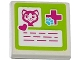 Part No: 3068bpb0910  Name: Tile 2 x 2 with Groove with Cat Head, Heart, Red Cross and Animal Paw Pattern (Sticker) - Set 41085