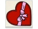 Part No: 3068bpb0924  Name: Tile 2 x 2 with Groove with Heart Shaped Present / Gift Box Pattern