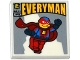 Part No: 3068bpb0927  Name: Tile 2 x 2 with Groove with Simpsons 'EVERYMAN' Comic Book Pattern