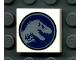 Part No: 3068bpb0930  Name: Tile 2 x 2 with Groove with Jurassic World Logo Pattern