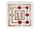 Part No: 3068bpb0942  Name: Tile 2 x 2 with Groove with Elven Gameboard and Magenta and Yellow Tiles Pattern (Sticker) - Set 41072