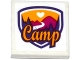 Part No: 3068bpb0978  Name: Tile 2 x 2 with Groove with Friends Camp Pattern (Sticker) - Set 41122