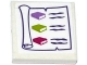 Part No: 3068bpb0987  Name: Tile 2 x 2 with Groove with Scroll with 3 Books Pattern (Sticker) - Set 41176