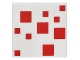Part No: 3068bpb0991  Name: Tile 2 x 2 with Groove with Pixelated Red Pattern (Minecraft Cake)