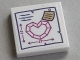 Part No: 3068bpb1022  Name: Tile 2 x 2 with Groove with Magenta Heart with Dimensions Pattern (Sticker) - Set 41177