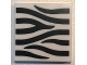 Part No: 3068bpb1032  Name: Tile 2 x 2 with Groove with Zebra Stripes Pattern