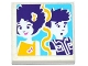 Part No: 3068bpb1054  Name: Tile 2 x 2 with Groove with Friends Worried Male, Smiling Female and Music Notes Pattern (Sticker) - Set 41130