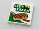 Part No: 3068bpb1083  Name: Tile 2 x 2 with Groove with 'CITY PIZZA', Skyline, Pizza and Italian Flag Colors Pattern (Sticker) - Set 60150