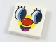 Part No: 3068bpb1126  Name: Tile 2 x 2 with Groove with PPG Smartphone Face with Red Nose Pattern
