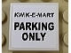 Part No: 3068bpb1127  Name: Tile 2 x 2 with Groove with Black 'KWIK-E-MART PARKING ONLY' Pattern (Sticker) - Set 71016