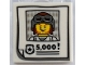 Part No: 3068bpb1154  Name: Tile 2 x 2 with Groove with Criminal Wanted Poster and '5,000!' Pattern