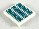 Part No: 3068bpb1266  Name: Tile 2 x 2 with Groove with Dark Turquoise Seat Cushion Pattern (Sticker) - Set 41164