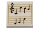 Part No: 3068bpb1291  Name: Tile 2 x 2 with Groove with Music Notes Pattern