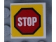 Part No: 3068bpb1292  Name: Tile 2 x 2 with Groove with Road Sign 'STOP' in Octagon Pattern (Sticker) - Set 60169