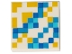 Part No: 3068bpb1322  Name: Tile 2 x 2 with Groove with Minecraft Pixelated Yellow and Blue Pattern