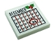 Part No: 3068bpb1756  Name: Tile 2 x 2 with Groove with Calendar with Black 'DECEMBER', Number 24 and Holly with Berries Pattern (Sticker) - Set 10275