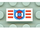 Part No: 3069bpb0003  Name: Tile 1 x 2 with Groove with Coast Guard Pattern