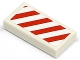 Part No: 3069bpb0020L  Name: Tile 1 x 2 with Groove with Diagonal Stripes Red Left Pattern (Sticker) - Set 7635