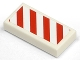 Part No: 3069bpb0020R  Name: Tile 1 x 2 with Groove with Diagonal Stripes Red Right Pattern (Sticker) - Set 7635