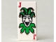 Part No: 3069bpb0027  Name: Tile 1 x 2 with Groove with Playing Card Joker Pattern