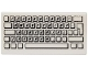 Part No: 3069bpb0030  Name: Tile 1 x 2 with Groove with Computer Keyboard Standard Pattern