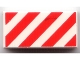Part No: 3069bpb0034  Name: Tile 1 x 2 with Groove with Diagonal Stripes Red Pattern