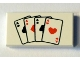 Part No: 3069bpb0264  Name: Tile 1 x 2 with Groove with Playing Cards Four Aces Pattern