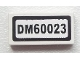 Part No: 3069bpb0284  Name: Tile 1 x 2 with Groove with 'DM60023' Pattern (Sticker) - Set 60023