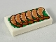Part No: 3069bpb0705  Name: Tile 1 x 2 with Groove with 6 Shrimp on Green Garnish Pattern