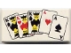 Part No: 3069bpx6  Name: Tile 1 x 2 with Groove with Playing Cards Full House Pattern