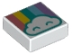Part No: 3070bpb134  Name: Tile 1 x 1 with Groove with Cloud and Pastel Rainbow Pattern
