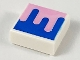 Part No: 3070bpb145  Name: Tile 1 x 1 with Groove with Blue and Bright Pink Splotch Pattern