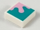 Part No: 3070bpb151  Name: Tile 1 x 1 with Groove with Bright Pink Splotch on Dark Turquoise Background Pattern