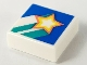 Part No: 3070bpb152  Name: Tile 1 x 1 with Groove with Rising Star on Blue Background Pattern