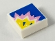 Part No: 3070bpb158  Name: Tile 1 x 1 with Groove with Color Explosion on Blue Background Pattern