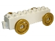 Part No: 31174c05  Name: Duplo Car Base 2 x 8 x 1 1/2 with Large Gold Spoked and Spiraled Wheels