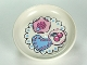 Part No: 31333pb03  Name: Duplo Utensil Dish with Heart, Cherry, and Rose Cakes on Doily Pattern